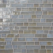"Daltile Glass Horizons Moonlight 12"" x 12"" Random Linear Mosaic"