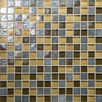 "Daltile Glass Horizons Pacific Blend 12"" x 12"" Mosaic"