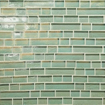 "Daltile Glass Horizons Sea Glass 12"" x 12"" Random Linear Mosaic"