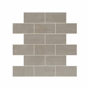 "Daltile Skybridge Gray 12"" x 12"" Brick Joint Mosaic"