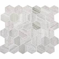 Daltile Stone Mosaic Carrara White Hexagon