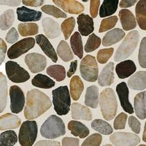 Daltile Stone Mosaic Earthy Blend River Pebble