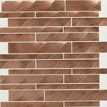 "Daltile Structure 12"" x 12"" Copper Interlocking Mosaic"