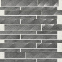 "Daltile Structure 12"" x 12"" Gunmetal Interlocking Mosaic"