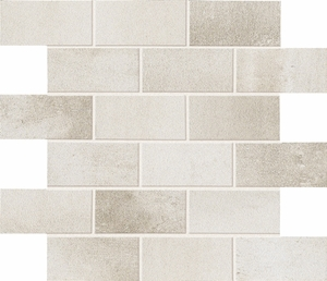 Eleganza Steel Chrome Brick Mosaic Semi-Polished