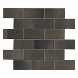 Eleganza Steel Metal Brick Mosaic Semi-Polished
