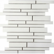 Emser Tile Style Pure White Linear Mosaic Matte