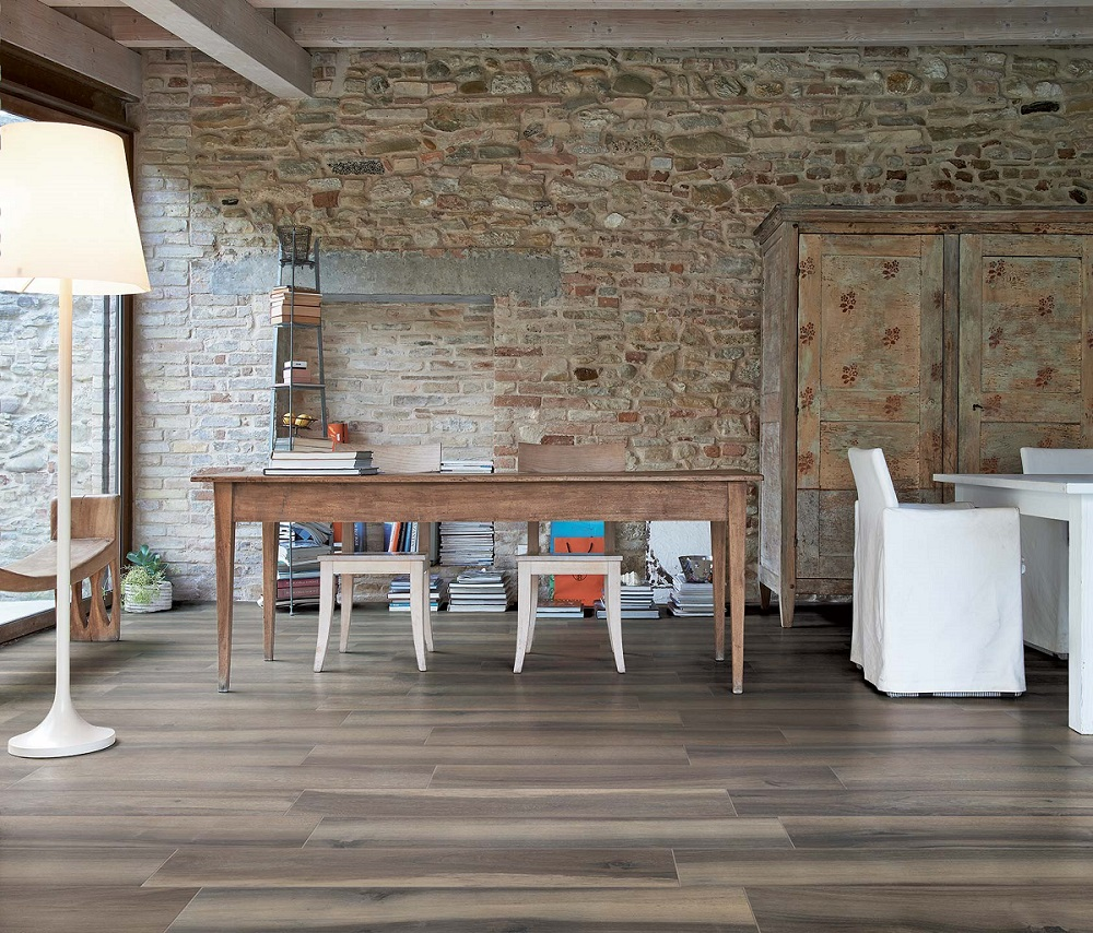 Wood look tile flooring for sale for Living room designs usa