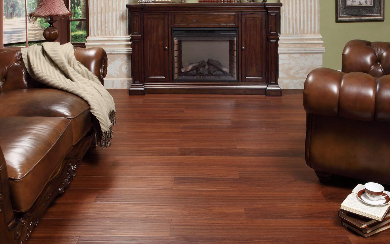 Freefit lvt intaglio brazilian cherry 6 x 48 luxury for Family floors