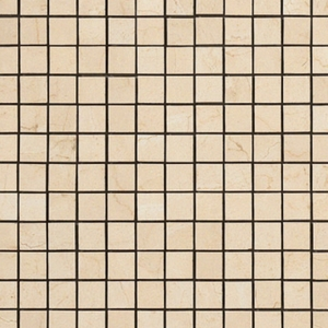 "Happy Floor Crema Marfil Mosaic 1"" x 1"""