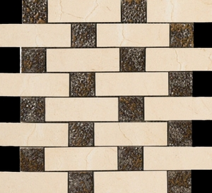 Happy Floor Crema Marfil Brick Joint Mosaic