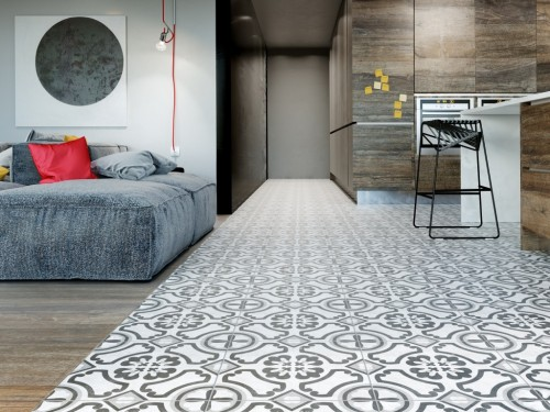 Interceramic Cementine Contrast Circoli Tile Flooring
