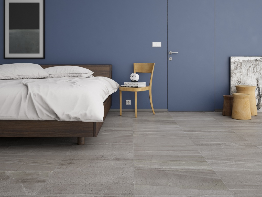 Interceramic montpellier grigio porcelain tile 7 5 x 24 for Losetas para pisos interiores