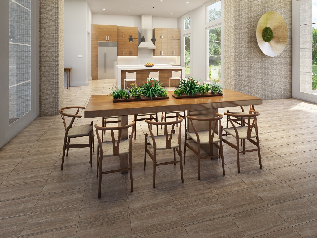 Interceramic San Giulio Borgo Brown Tile Flooring 12 X 24