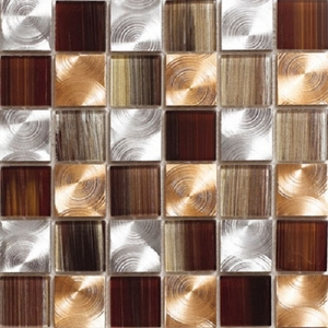 "Kertiles Damasco Copper 2"" x 2"" Mosaic"