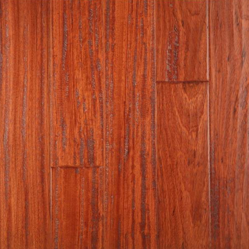 Lm flooring gevaldo hand scraped brazilian cherry natural for Brazilian cherry flooring