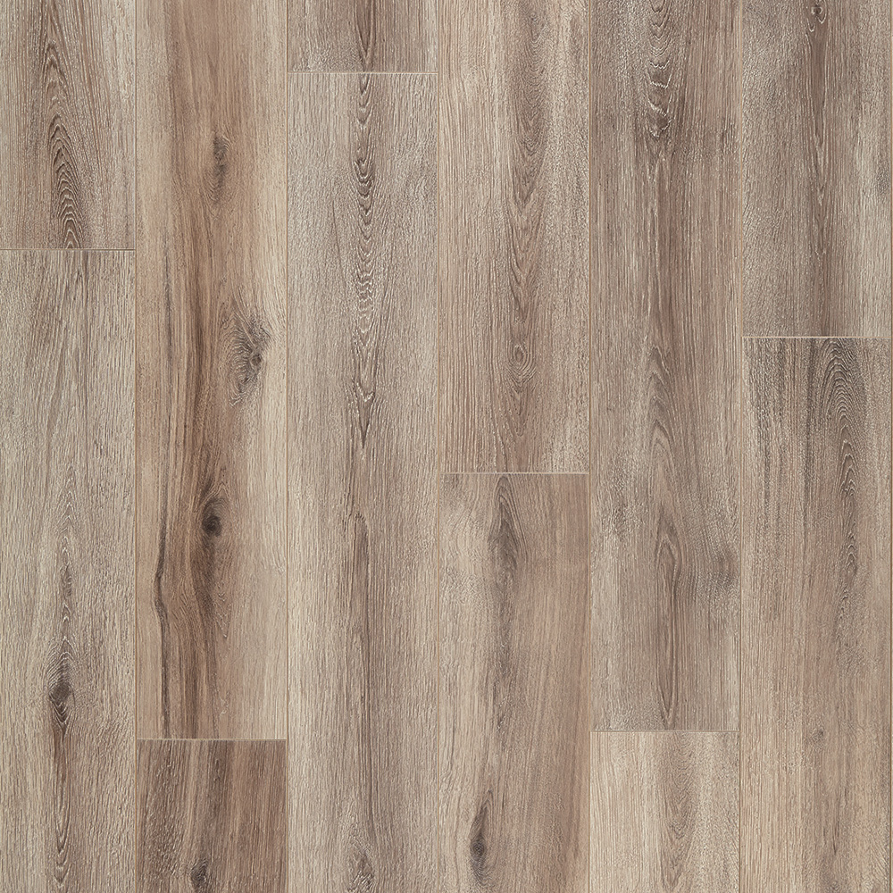 Mannington restoration fairhaven brushed taupe laminate for Mannington laminate flooring