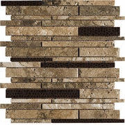 Marazzi Archaeology Troy Random Strip Mosaic