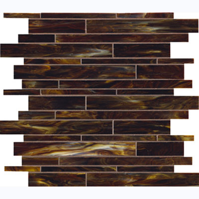 Marazzi catwalk walnut wedge 12 x 12 glass mosaic tile uj93 for Catwalk flooring