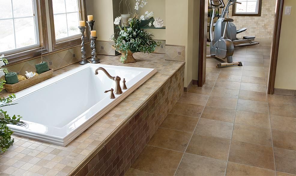 "13 Tile Tips For Better Bathroom Tile: Marazzi Walnut Canyon Cream 13"" X 13"" Color Body Porcelain"