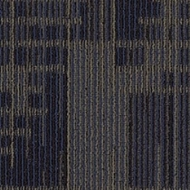 Mohawk Aladdin Set In Motion Indigo Batik Carpet Tile
