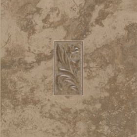 """Mohawk Pavin Stone Brown Suede 10"""" x 14"""" Decorative Wall Insert"""
