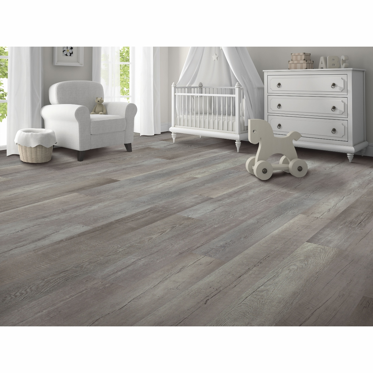 Mohawk True Design Weathered Grey Vinyl Flooring