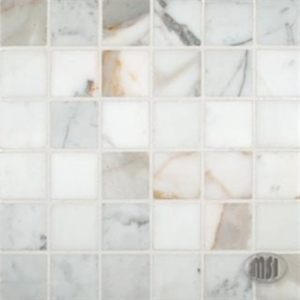 MS International Pietra Calacatta Mosaic 2 x 2