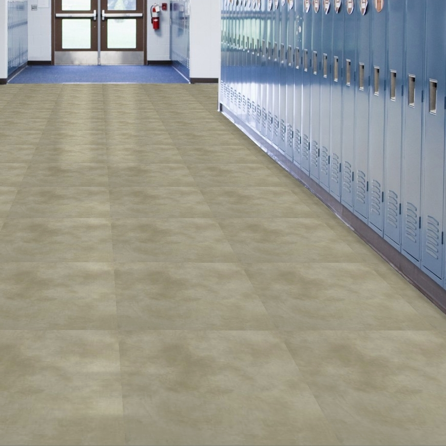 Easy To Clean Commercial Industrial Flooring: Shaw Crete Commercial Vinyl Tile Flooring