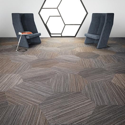 Hexagon Area Rugs Shaw Contract Group Linear Shift Hexagon Carpet Tile 5T056