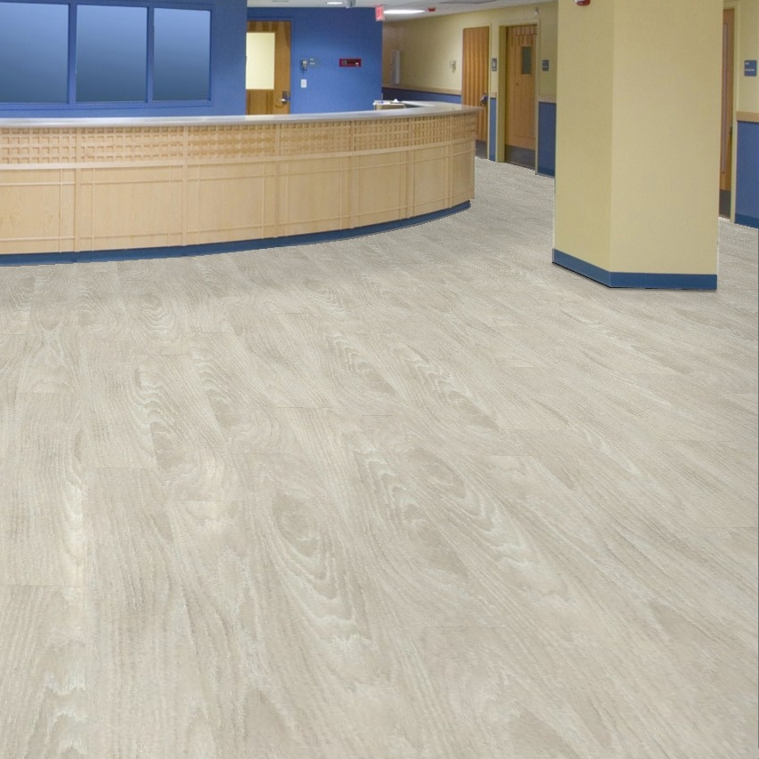 Shaw quiet cover commercial luxury vinyl for Luxury linoleum flooring