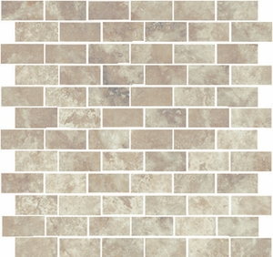 "StonePeak Rome Imperial Rome 1"" x 2"" Brick Joint Mosaic"