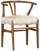 Bentwood Dining Chair with Fur Seat