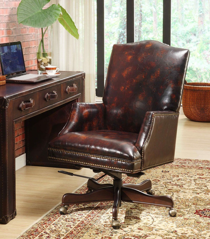 Classic Leather Desk Chair