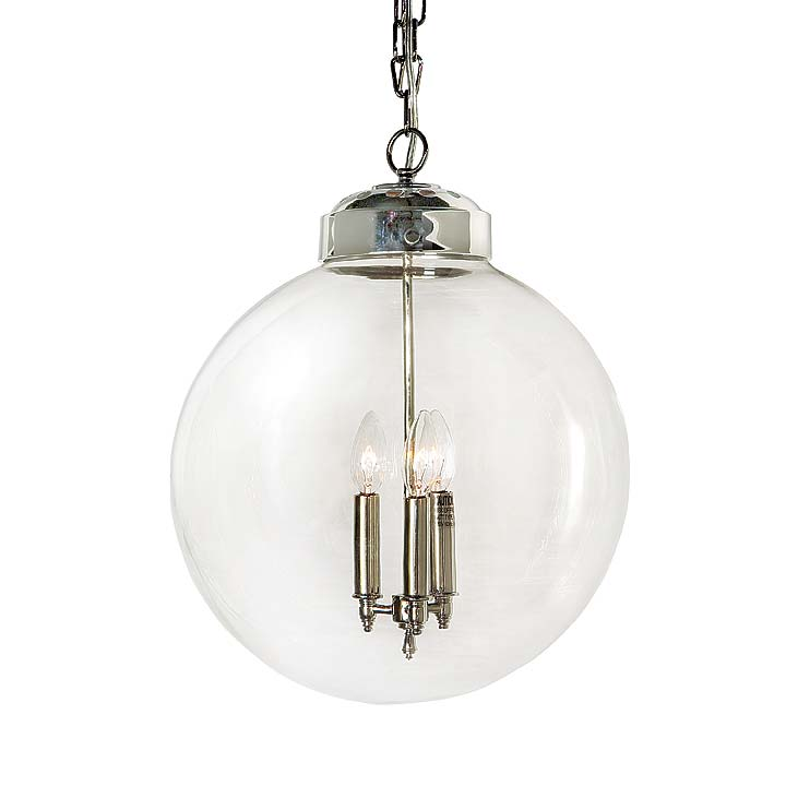 Clear Gl Orb Pendant Large