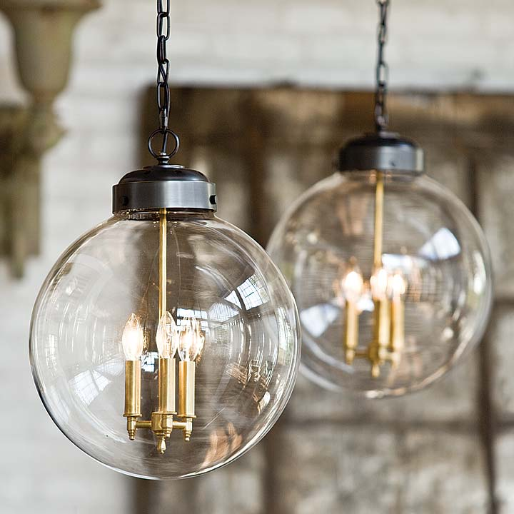 Clear Glass Orb Pendant - Large & Clear Glass Orb Pendant - Large | British Home Emporium | BHE Studio azcodes.com