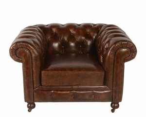 Congress Chesterfield Leather Armchair - QS