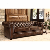 Congress Chesterfield Leather Love Seat - QS