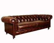 Congress Chesterfield Leather Sofa - QS