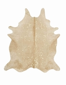 Devore Metalic Beige w/ Gold Cowhide