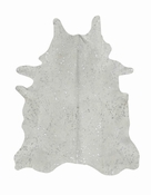 Devore Metallic White w/ Small Silver Pattern Cowhide