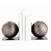 Hammered Iron Bookends