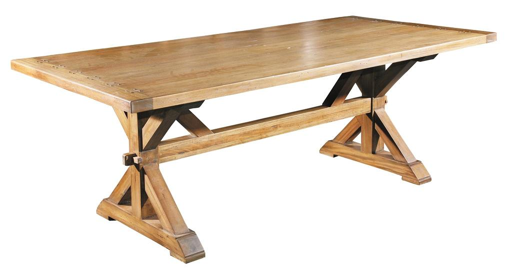 Italian country trestle dining table british home emporium for Trestle dining table