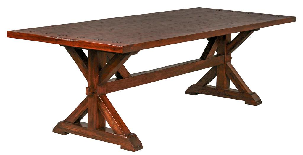 Italian Country Trestle Dining Table