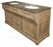 Large Double Bathroom Vanity W/ Bluestone Top