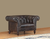 Leather Chesterfield Arm Chair - QS