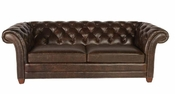 Leather Chesterfield Couch - QS
