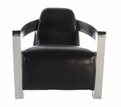 Leather Rocket Chair - QS