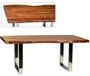 Live Edge Dining Table Metal Base