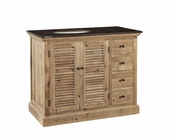 Louvered Bathroom Vanity